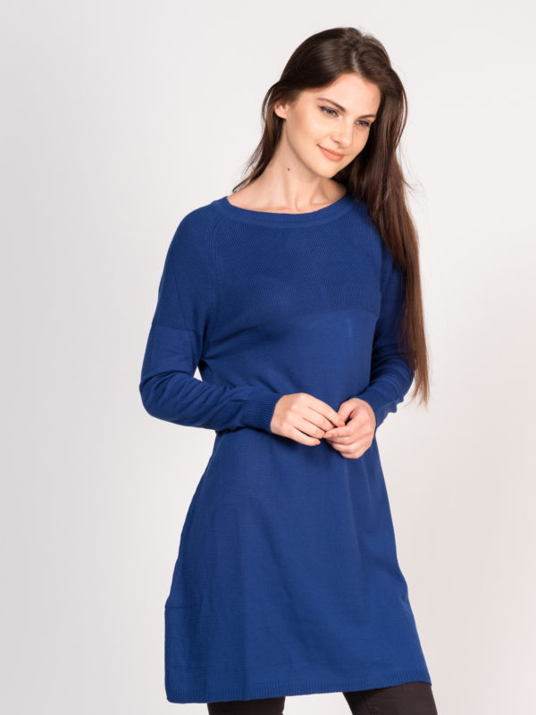 Triko yırtmaçlı tunik/elbise